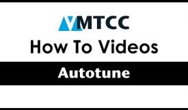 How to set an Autotune