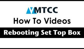 How to Reboot a Set Top Box