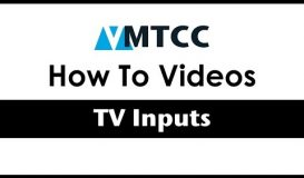 All about TV Inputs