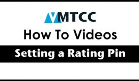 How to set a Rating Pin